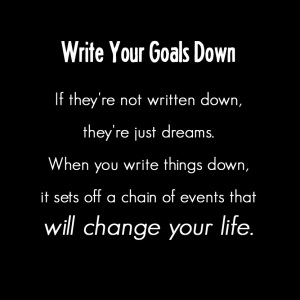 write-goals-down